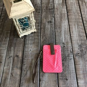 Vibrant Pink and Blue Wristlet